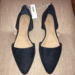 Sueded D'Orsay Flats for Women